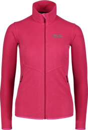 Ružová dámska ľahká fleecová mikina COINCIDE