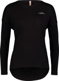 Černé dámské tričko na jógu SLOPPY