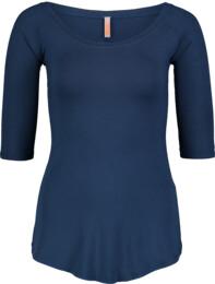 Women's blue elastic t-shirt CALYX