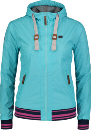 Women's blue waterproof outdoor jacket CITYLIFE - NBSJL6263