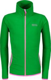 Zöld gyermek fleece melegítőfelső SOFTER