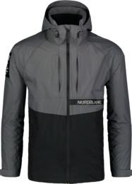 Men's grey light spring- autumn jacket POUCH - NBSJM7372