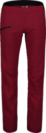 Women's red ultra lightweight outdoor pants HIKER - NBSPL7416