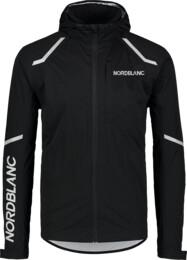 Fekete férfi vízálló ultrakönnyű kerékpáros dzeki/kabát MECHANISM - NBSJM7421