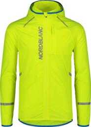 Sárga férfi ultrakönnyű kerékpáros dzeki/kabát HILLSIDE - NBSJM7423