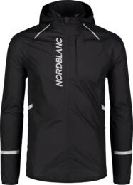 Fekete férfi ultrakönnyű kerékpáros dzeki/kabát HILLSIDE - NBSJM7423