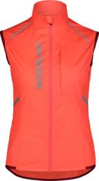 Vestă ultra-ușoară portocalie de ciclism pentru femei ROAMER - NBSJL7428