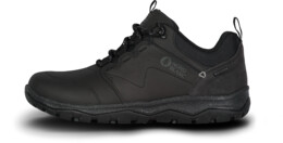 Černé dámské kožené outdoorové boty DONA - NBSH7442