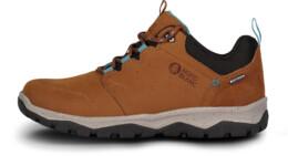 Hnědé dámské kožené outdoorové boty DONA - NBSH7442