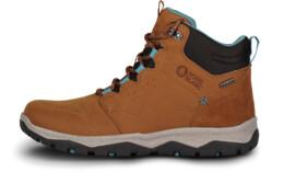 Hnědé dámské kožené outdoorové boty PRIMADONA - NBSH7443