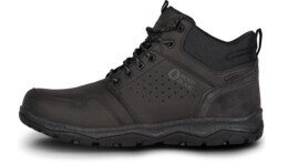 Men's black outdoor leather shoes FUTURO - NBSH7445