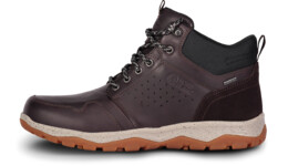 Men's brown outdoor leather shoes FUTURO - NBSH7445
