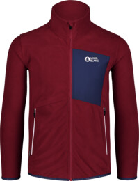 Men's wine red purple light fleece jacket MOONRISE - NBSFM7377
