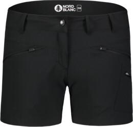 Fekete női könnyű outdoor rövidnadrág SIMPLICITY - NBSPL7418