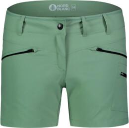 Zöld női könnyű outdoor rövidnadrág SIMPLICITY - NBSPL7418