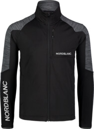 Men's black power fleece jacket CAMPSHIRE - NBSFM7378