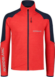 Men's red power fleece jacket CAMPSHIRE - NBSFM7378