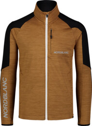 Men's brown power fleece jacket CAMPSHIRE - NBSFM7378