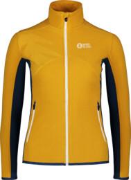 Žlutá dámská lehká fleecová mikina MIST - NBSFL7380