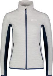 Women's grey purple light fleece jacket MIST - NBSFL7380