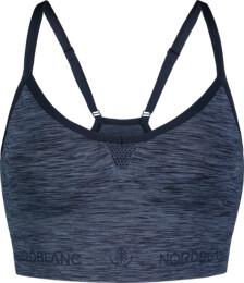 Women's blue functional seamless sports bra REFINE