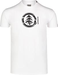 Bílé pánské bavlněné tričko UNVIS