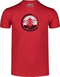 Men's red cotton t-shirt TRICOLOR