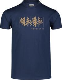 Men's blue cotton t-shirt DECONSTRUCTED