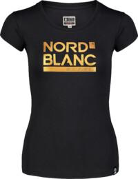 Damen Elastisches T-Shirt schwarz YNUD