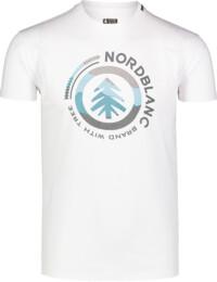 Men's white cotton t-shirt LANDSCAPE