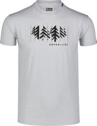 Tricou gri pentru bărbați DECONSTRUCTED