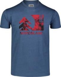 Tricou albastru pentru bărbați TREETOP