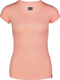 Oranžové dámské bavlněné tričko CALLIGRAPHY