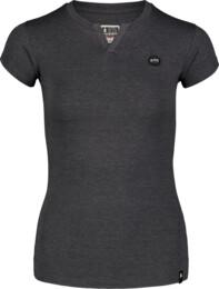 Černé dámské bavlněné tričko CUTOUT
