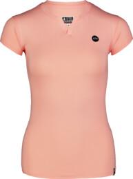Oranžové dámské bavlněné tričko CUTOUT