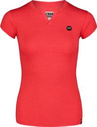 Červené dámské bavlněné tričko CUTOUT