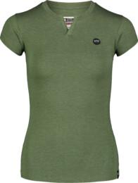 Zelené dámské bavlněné tričko CUTOUT