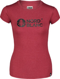 Vínové dámské bavlněné tričko CENTRAL