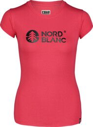 Růžové dámské bavlněné tričko CENTRAL