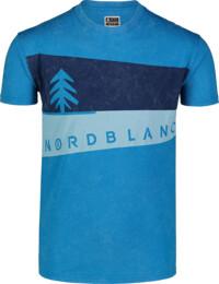 Modré pánské bavlněné tričko GRAPHIC