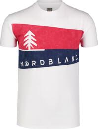 Bílé pánské bavlněné tričko GRAPHIC