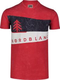 Červené pánské bavlněné tričko GRAPHIC