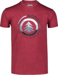 Men's wine red cotton t-shirt LANDSCAPE