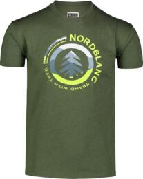 Men's green cotton t-shirt LANDSCAPE
