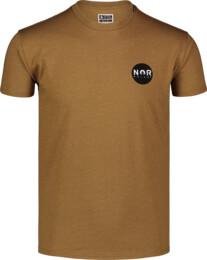 Men's brown cotton t-shirt NOR