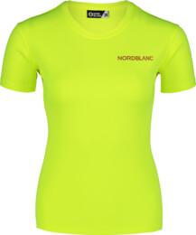 Sárga női funkcionális fitness póló TRAINING