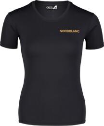 Fekete női funkcionális fitness póló TRAINING
