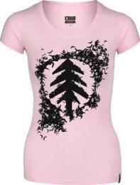 Rózsaszín női pamut póló FLOCK