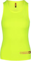 Women's yellow fitness tank top AERO