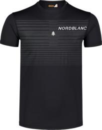 Černé pánské fitness tričko GRADIANT